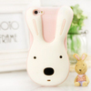 hot selling cute rabbit soft cover 3D rabbit silicon case for iphone 5