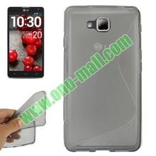 Durable S-Shaped TPU Case for LG Optimus L9 II