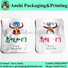 Custom printed aluminum foil vacuum retort pouch
