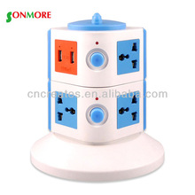 15A battery powered plug outlet & outlet home/office
