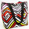 2014 Fashion Large Canvas Beach Tote Bag Zebra Print Tote Handbag