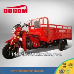 Red European suspension trike with side fenders