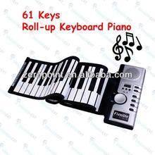 61 Keys Portable Flexible Digital Roll-Up Soft Midi Keyboard Piano