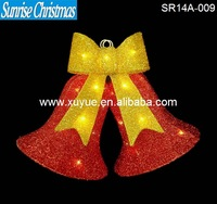 LED lighted Christmas red bell with light