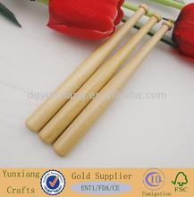 Natural mini wood baseball bat