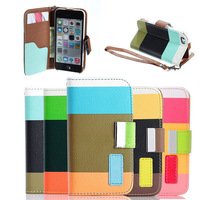 Flip PU leather for iphone 5c cover case