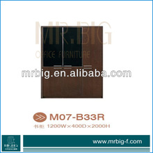 M07-B33R office furniture filing cabinet glass cabinet