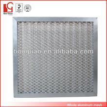 All metal Panel aluminum mesh roll filter