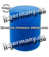 Tube Stool round blue microfiber chair ottoman