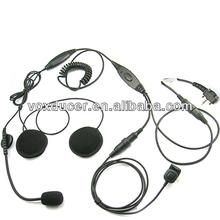 Racing half face helmet headset for Yaesu Vertex handheld radio VX-180 VX-210 VX-228 VX-230 VX-231 VX-298 VX-350 VX-351 VX-354