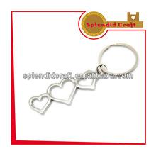 Novo design de alta qualidade formato de coração chaveiro