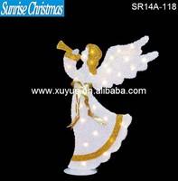 LED Lighted christmas angel with lights