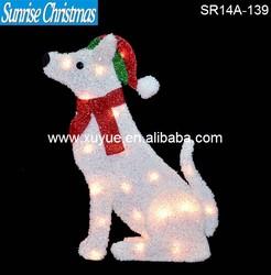 LED Lighted christmas dog with lights
