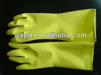 pink and yellow woman latex cleaning glove ,need agent,,anti cold winter Hotel dishes anti staticglove