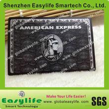 high end titanium Black Amex Card metal business cards Metal Black AmEx Centurion cards manufacturer