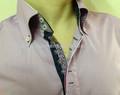 2014 nova Mens italiano de dois abotoado gola alta Casual camisas