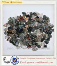 wholesale cheap natural green phantom crystal tumbled stone