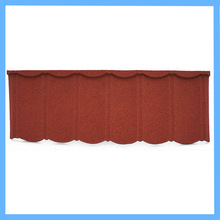 teak brown color metal stone chip coated steel sheet roof tile
