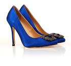 Hot sale ladies high heel crystal dress shoes 2014
