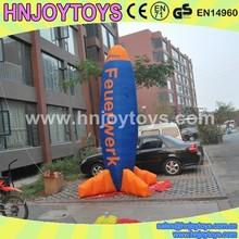inflatable sky rocket model,attractive rocket advertising inflatable,Promotional Inflatable Plane