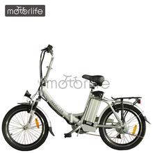 MOTORLIFE/OEM brand EN15194 pass 36v 200~500w lithium battery powered folding bike