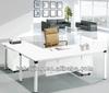 Foshan top sale office desk wooden table top with metal leg