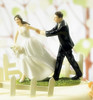 Happy bride and groom table decoration antique polyresin ornament