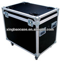 Negro de aluminio duro caja de herramienta transporant caja