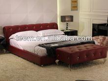 2014 modern home furniture bed wooden slats bed frame