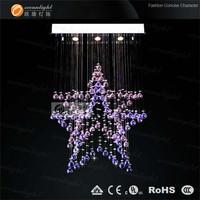 double star purple crystal chandelier color OM9163