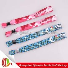 event,festival,club entrance custom cloth event wristband