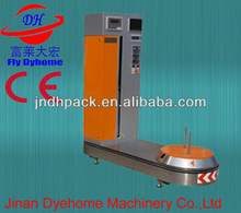 Airport bag packing machine/plastic film luggage wrapper