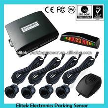 Car LED Display Reversing Rear Parking 4 Sensors Voice Alarm Radar CV02-4-MF1