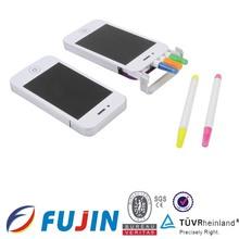 5 in 1 highlighter pen set Iphone shape highlighter set Fashion pens