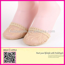 fashion lace socks ultra soft sole Sponge insole half sole pad for sandals