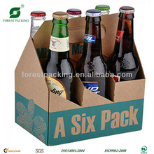 6 BOTTLE WINE CARDBOARD BOTTLE CARRIER FP801493