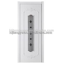 MDF Veneer Interior Inserted Glass Entrance Main Door Design SFGM-05
