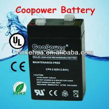 Sealed lead acid 6v2.8ah Rechargeable maintenance free battery