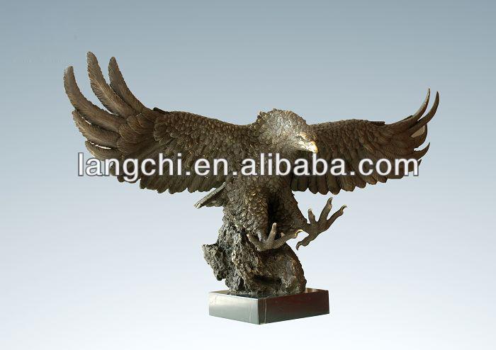 2014 New Arrival Gift Art Deco Bronze Eagle Sculpture TPAL-033