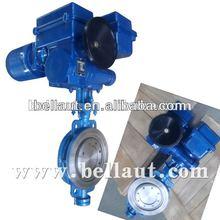 electric actuator control triple eccentric butterfly valve/control valve/flow control valve/burnard actuator with valve