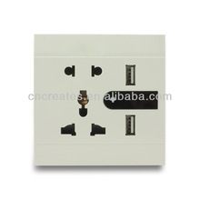 South Africa wall socket & 4 ways electrical outlets with USB