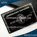 أرقام وأسماء مخصص معدنية سوداء aerican اكسبريس بطاقة الائتمان