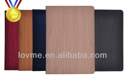 wooden shape pu smart leather case for apple ipad air ipad 5