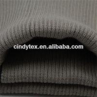 6g hoary acrylic lycra 2*2 tube rib knit fabrics