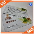 pvc de alta calidad de impresión de la máquina de plástico de la tarjeta de negocios baratos
