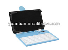 Universal 10 inch Tablets Wired Keyboard Leather Cover