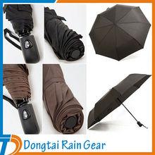 21 Inches 8 Ribs 3 Folds Automatic Folding Rain Umbrella