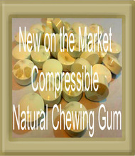 Compressed Natural Chewing Gum
