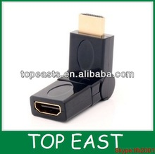 hdmi to hdmi f 360 degree rotating connector
