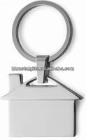 House shape custom metal key ring